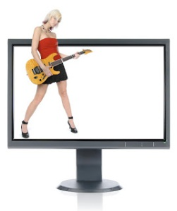 bigstockphoto_Gorgeous_Guitar_Player_And_Mon_3499165