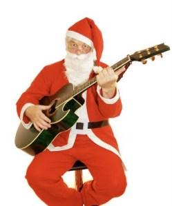 bigstockphoto_Santa_Guitar_888576